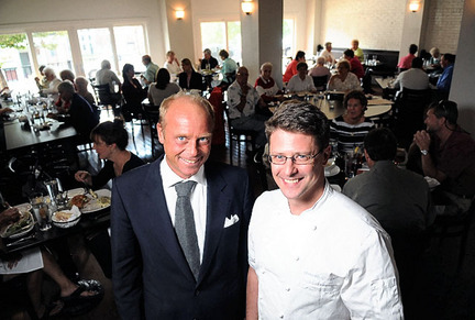 Manager Joachim Ohlin, left, and food/beverage director Ed Moro have turned the Divine Kitchen-Bar at Seneca Falls' Hotel Clarence into the latest Finger Lakes restaurant with an emphasis on fresh, local flavors.